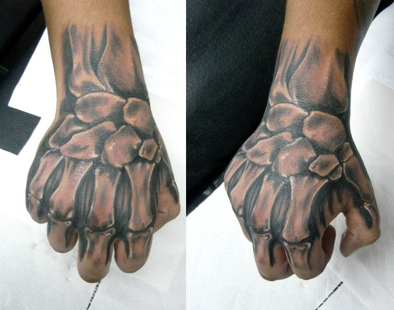 MANO ESQUELETO | Tatuajes full color estudio de tatuajes en … | Flickr
