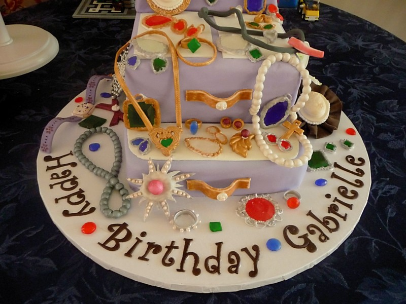 jewelry box birthday cake Fondant covered cake and hand ma Flickr