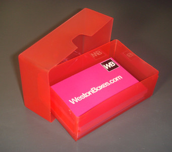 Red plastic business card box a red plastic business card flickr red plastic business card box by westonboxes colourmoves