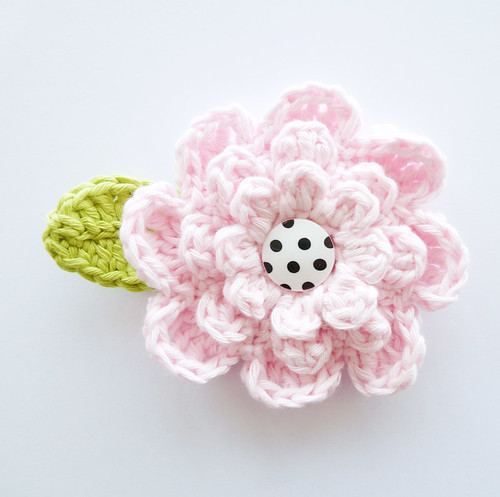 Large flower pink | by Annemarie's Crochet Blog