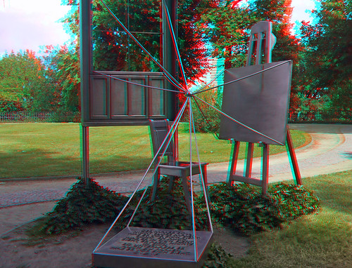 3D red/cyan Anaglyph - Dresden, Caspar-David-Friedrich-Denkmal | by 3D - red/cyan