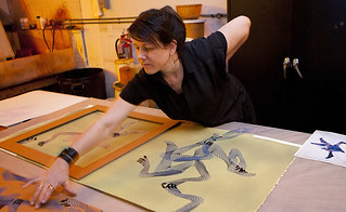 Artist EV Day Works on Cyanotypes at Graphicstudio | by IRAUSF