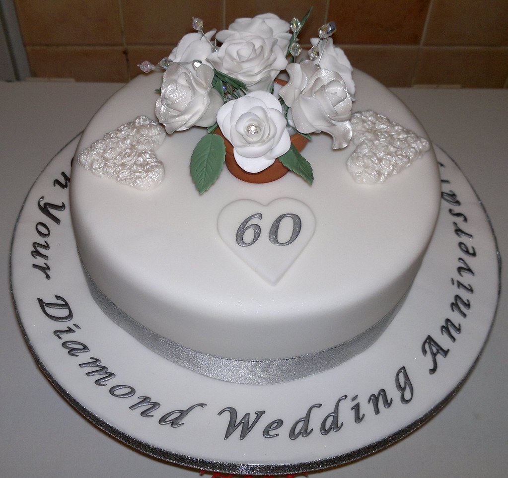 Diamond Wedding Anniversary Cake | Liz | Flickr