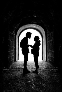 the romantic tunnel by D.F.N. Noir & Blanc black & white | by '^_^ Damail Nobre ^_^'