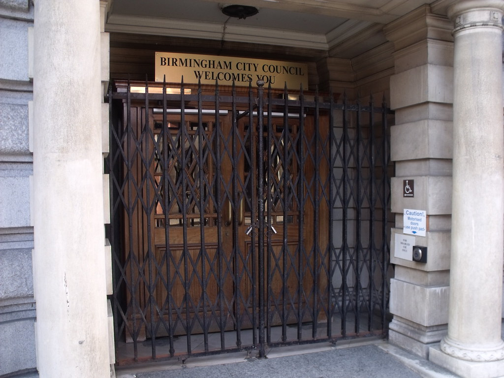 ... Council House Extension - Margaret Street Birmingham - gated doors | by ell brown & Council House Extension - Margaret Street Birmingham - ga\u2026 | Flickr