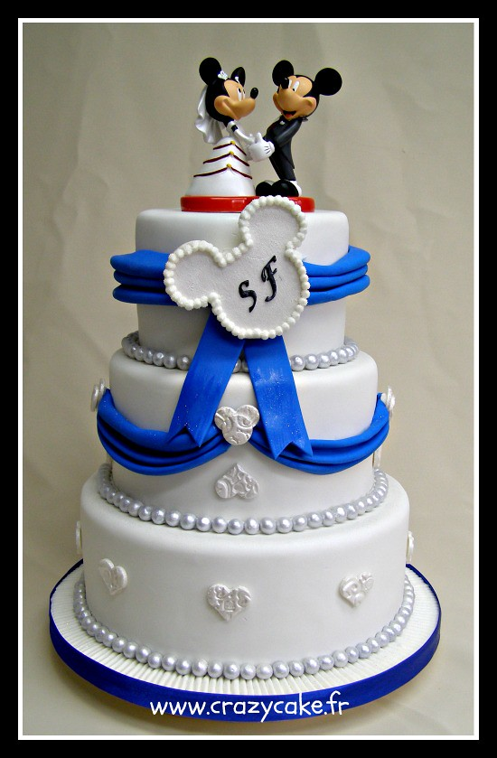 Mickey and Minnie wedding cake | Rachid | Flickr