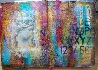 Art Journal double page spread | by Zinnia_Treasures