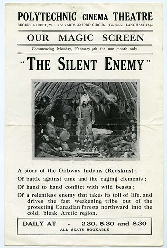 Flyer for 'The Silent Enemy' (1930) showing at the Polytechnic Cinema Theatre February 1931 | by UniOfWestminsterArchives