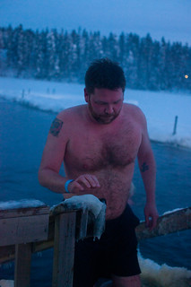 Me, emerging from the freezing water at Kuusijärvi, Vantaa | by chrisfreeland2002
