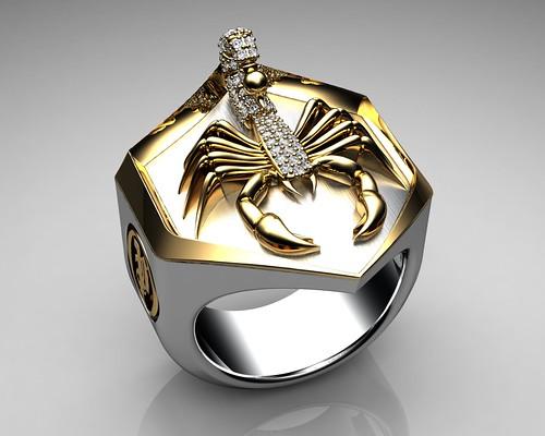Black Diamond Male Ring