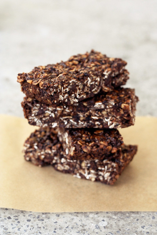 Chocolate Peanut Butter Road Trip Energy Bars - Gluten-free, Vegan + Refined Sugar-Free