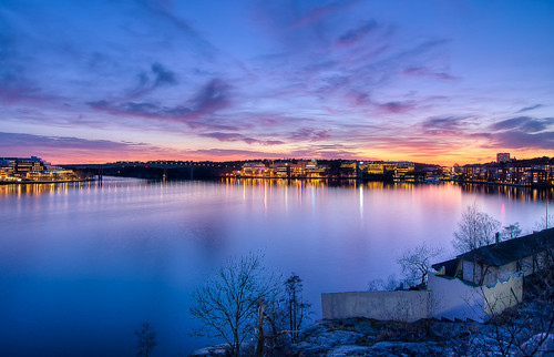 Blue Hour sunset in Fredhäll (Explore 27/03/2012) | by Storkholm Photography