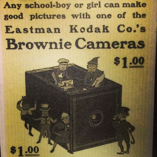 "Still intrigued by how old school advertising sell The Kodak $1 Brownie Camera. ""Just take the pictures and we'll do the rest"" - And they really do! 