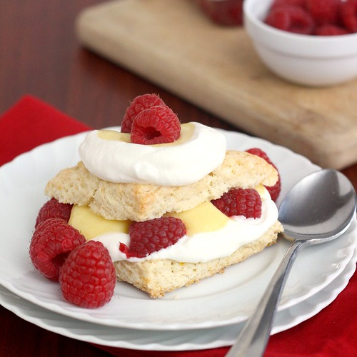 Meyer Lemon Shortcakes with Meyer Lemon Curd | by Tracey's Culinary Adventures