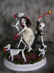 Day of the Dead wedding cake topper | New Orleans bride and … | Flickr