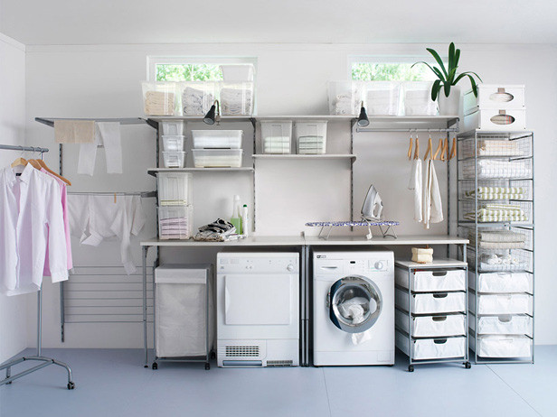 One hour to an organized laundry room