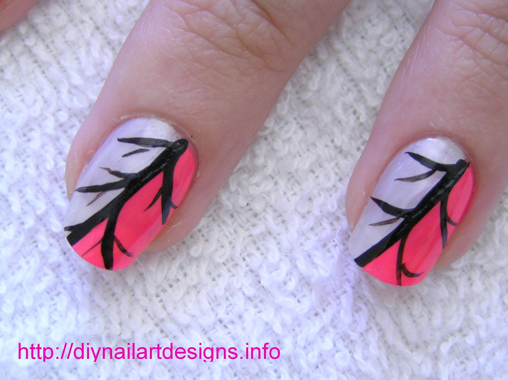 Easy Nail Art Designs: Pink and Silver Abstract Nail Desig… | Flickr