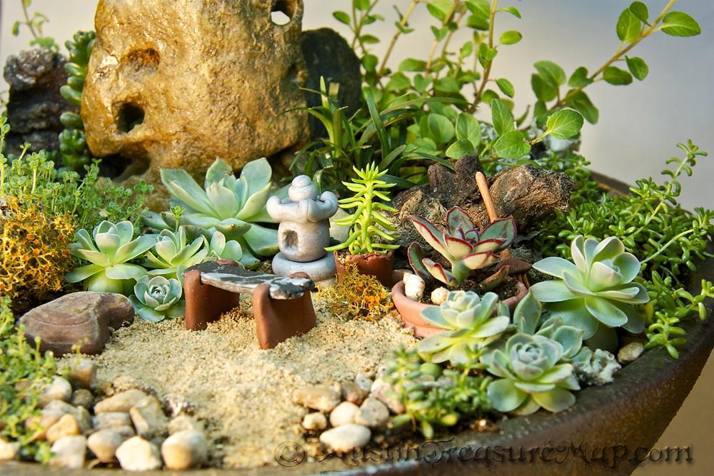 Miniature Zen Garden Close Up Miniature Japanese Tea Garde Flickr