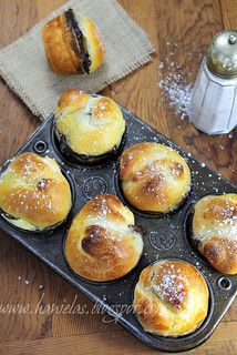 Chocolate Pudding Buns | by Haniela