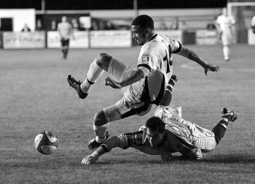 The Kevin Quigley B&W Version : Maidstone United v Dover Athletic .. Kent Senior Cup .. 12th Oct 2011 | by kjlast