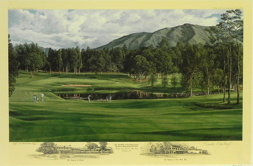 The 18th Hole of the Eden Course, The Royal Hong Kong Golf Club by Linda Hartough at Smith Galleries | by Smith Galleries