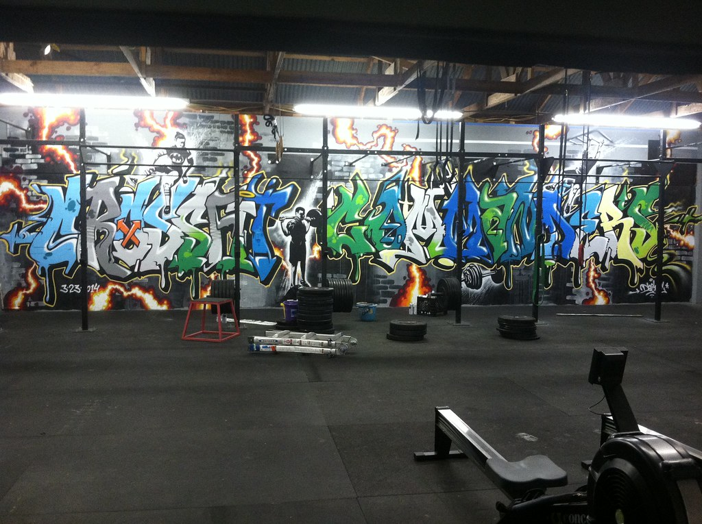 Dagoe Marse Freestyle Graffiti Mural Crossfit Commanders
