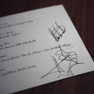 Signed menus by both chefs | by soundofdesign