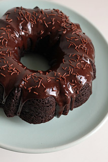 double-chocolate bundt cake with ganache glaze | by awhiskandaspoon