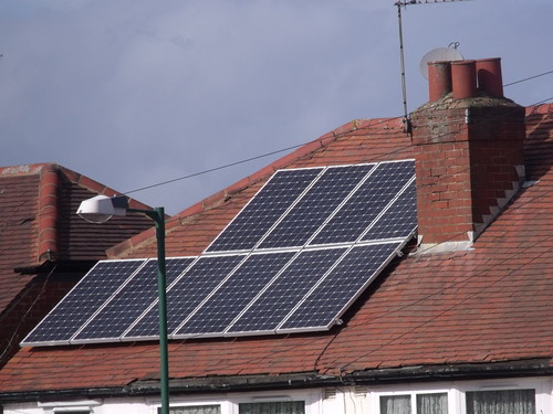 Solar panels on a roof - Northfield | by ell brown
