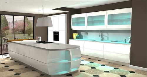 White Kitchen Designs Apartment Table Set