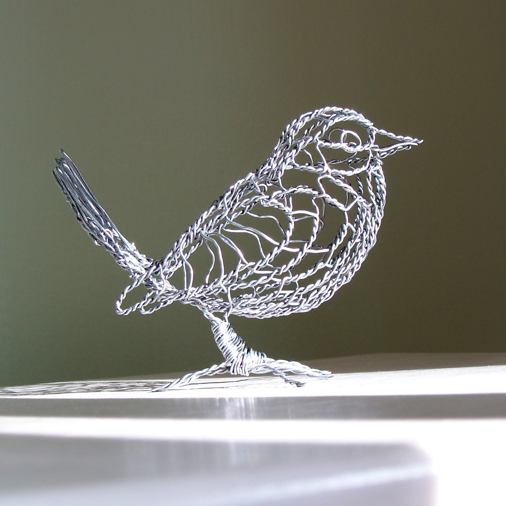 House Wren Wire Sculpture - R | About 3 inches high, 4 inche… | Flickr