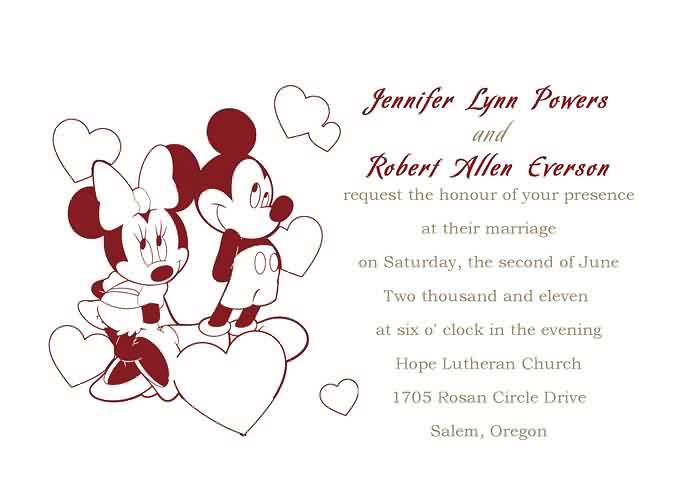 Red Mickey And Minnie Mouse Wedding Invitation | Red is popu… | Flickr