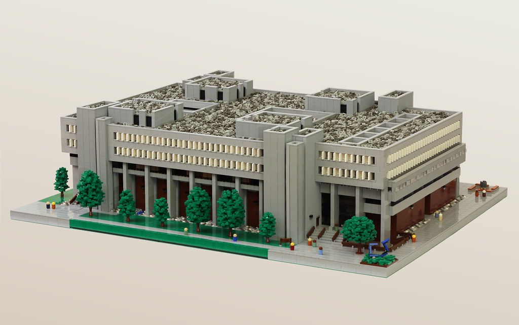 UW Mathematics and Computer Building | A microfig scale LEGO… | Flickr