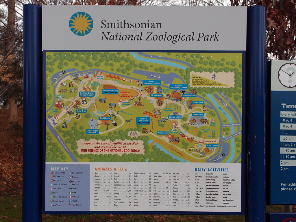 The National Zoo Park Map Washington Dc 2012 24 A Flickr