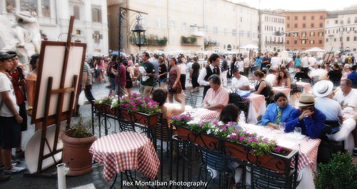 we are alfresco dining at piazza navona | by Rex Montalban Photography