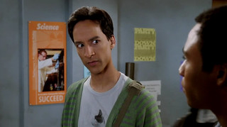 "Abed wearing my shirt in the new ""Community Returns"" promo! 