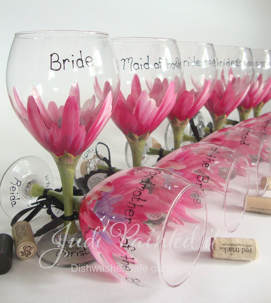 Pink Hibiscus Hand Painted Personalized Bridesmaid Floral Flickr