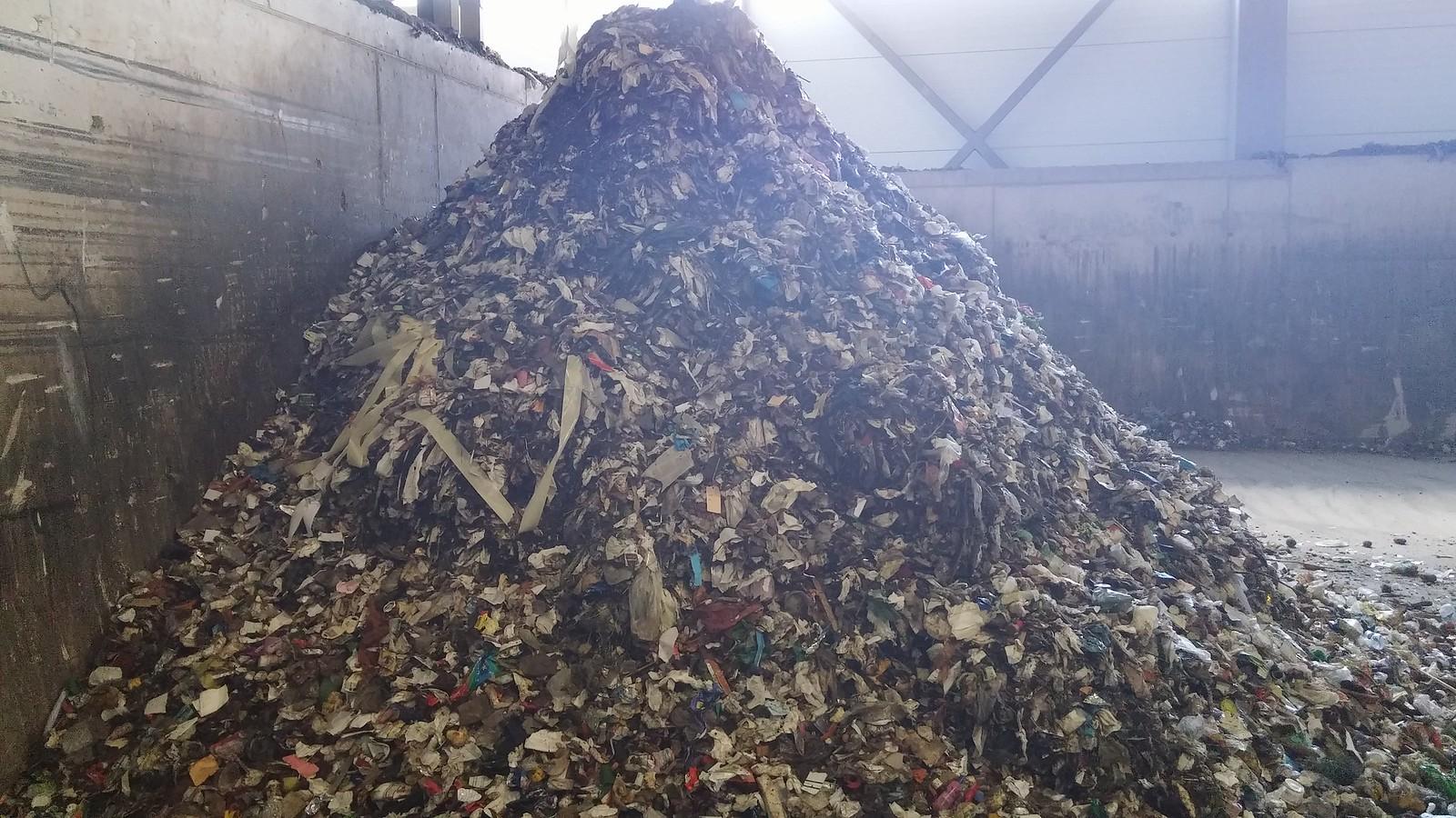 Čia daug biologinės kilmės atliekų. Lyg ir.