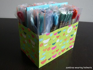 DIY embroidery floss storage & organization | by Zombie Leah
