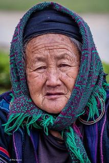 Elderly Hmong woman - Sapa, Vietnam | by Phil Marion
