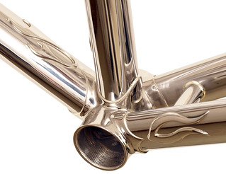 BB View of Waterford Stainless Frames with flame custom lugs. | by waterfordbikes