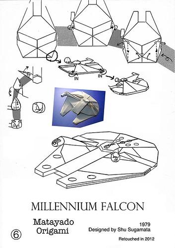 millennium falcon origami diagram 4