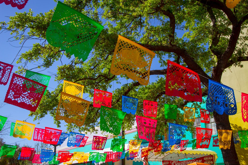 Papel picado is also known as perforated paper; it is used to decorate the city and homes during Fiesta inside and outside buildings
