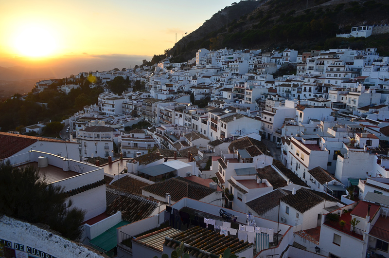 Mijas at Sunset, Costa Del Sol, Spain
