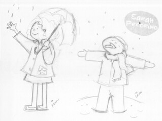 Verbs: Rain & Snow | by Sarah Pecorino Illustration