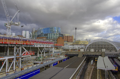 Crossrail construction site at London Paddington 07.03.12 | by yorkshire stacked