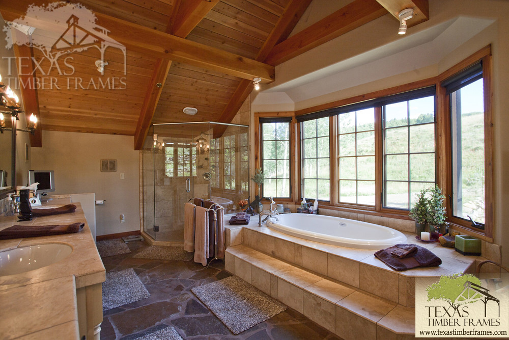 Bathroom - Texas Timber Frames | Texas Timber Frames | Flickr