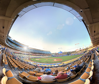 Fisheye View of Dodger Stadium | by Non Paratus