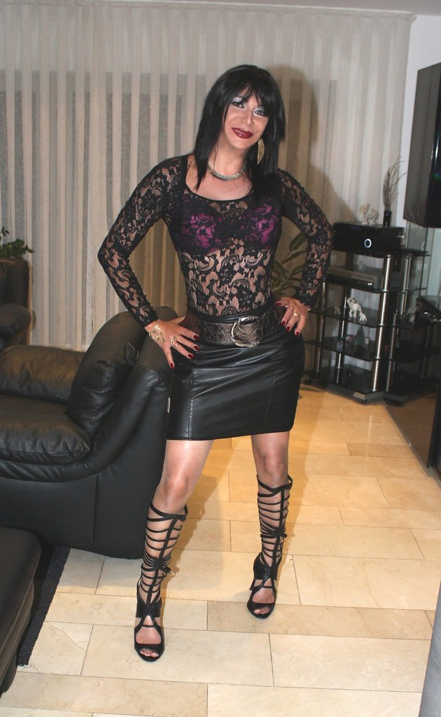 Leather and lace milf