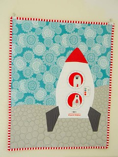 Brrr! Rocket Ship wall hanging | by lauriewis | Laurie Wisbrun